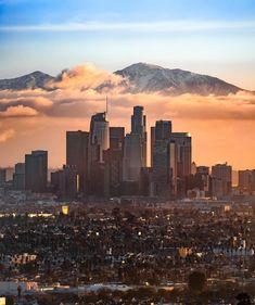 The City Center of Los Angeles Los Angeles Skyline, Downtown Los Angeles, Los Angeles City Center, City Of Angels, Los Angeles Wallpaper, Nova Orleans, Los Angeles Travel, City Aesthetic, Aesthetic Collage