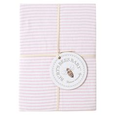 Burt's Bees Baby™ Organic Bee Essentials Stripe Knit Changing Pad Cover - Blossom