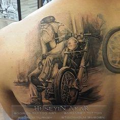 harley davidson tattoo motosiklet dovmesi black and gray tattoo ...