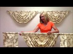 How to hang three swags and jabot on a double curtain rod