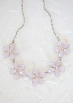 Sweet Escape Necklace In Pink   Modern Vintage New Arrivals