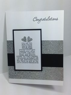 Handmade Wedding Card, Love and Laughter, Congratulations, 3 Heart Punch, PPA224, Stampin Up Card