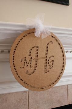 Items similar to Cardboard Monogram on Etsy Cardboard Paper, Cardboard Crafts, Paper Crafts, Diy And Crafts, Arts And Crafts, Star Diy, Diy Monogram, Diy Advent Calendar, Recycled Art