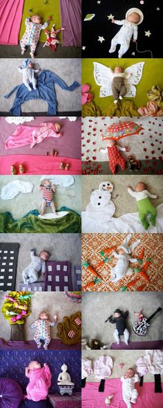 Photos of newborn / sleeping baby. (wish I'd done this with Mr Man when he was littler!)