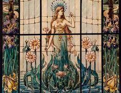 Róth Miksa Art Nouveau, Art Deco, Budapest, Illustration, Wall Collage, Painting, Glass, Love, Drinkware