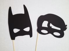 Batman and Robin Photo Booth Props Superhero by CleverMarten