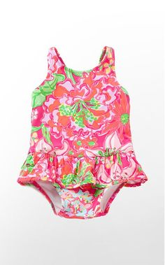 Lilly Pulitzer-Printed Swimsuit for Baby... My daughter WILL one day be decked out in Lilly while at the beach!