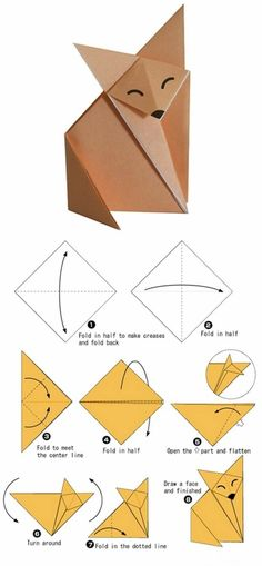We& always wanted to build origami shapes, but it looked too hard to learn. Turns out we were wrong, we found these awesome origami tutorials that would allow any beginner to start building origami shapes. Origami Shapes, Instruções Origami, Origami Patterns, Paper Crafts Origami, Origami Flowers, Origami Ideas, Origami Bookmark, Origami Folding, Origami Boxes