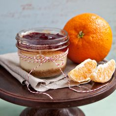 Cheesecake in a jar, give away desserts