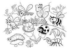 Spring Coloring Pages: Spring coloring sheets can actually help your kid learn more about the spring season. Here are top 25 spring coloring pages free Insect Coloring Pages, Garden Coloring Pages, Summer Coloring Pages, Detailed Coloring Pages, Preschool Coloring Pages, Coloring Sheets For Kids, Animal Coloring Pages, Free Printable Coloring Pages, Coloring Pages For Kids