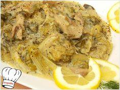 Ενα απλο μα τοσο πεντανοστιμο πιατο!!! Δοκιμαστε το!!!  ΥΛΙΚΑ 500 γρ.μανιταρια πλευρωτους  1 ξερο κρεμμυδι ψιλοκομμενο 1 ματσακι φρεσκα κρεμμυδακια ψιλοκομμενα 2-3 μεγαλα μαρουλια χοντροκομμενα 1/2 μα Greek Recipes, Desert Recipes, Greek Beauty, Back Home, Deserts, Stuffed Mushrooms, Pork, Appetizers, Meat