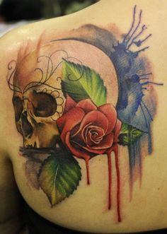 Incredible Watercolor Tattoo - Artist: Lianne Moule. Location: Immortal Ink, Essex, England.