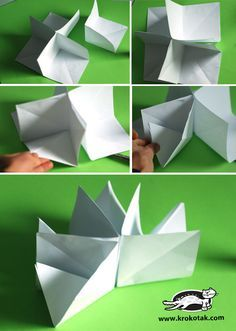 krokotak | How to Make a 3D Paper House