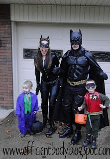 Thinking for the next superhero 5k (since i am prego this  year)  momma-cat woman  Austin- batman?  baby dean- robin  and we'll see if daddy goes, he can be the joker.