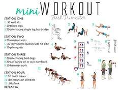 A quick at home workout to do during your first trimester! A quick at home workout to do during your first trimester! First Trimester Workout, Pregnancy First Trimester, Prenatal Workout, Trimesters Of Pregnancy, Pregnancy Tips, Pregnancy Fitness, Pregnancy Nutrition, Pregnant Exercise First Trimester, Pregnancy Products