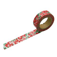 Red Pink Floral Washi Tape