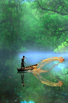 fisherman, indonesia.