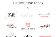 4493f3f44 120 Feminine Branding Logos - Logos - 5 Design De Identidade De Marca