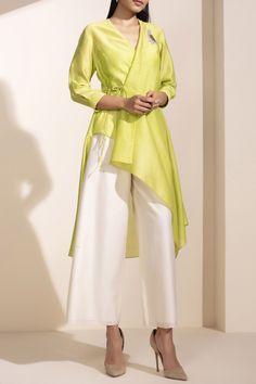 Buy Asymmetric Tunic by AMPM at Aza Fashions – Tenues de mode femmes Designer Party Wear Dresses, Kurti Designs Party Wear, Indian Designer Outfits, Tunic Designs, Kurta Designs Women, Indian Wedding Outfits, Indian Outfits, Stylish Dresses, Casual Dresses