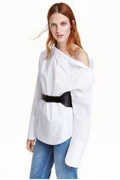 Szeroka koszula z bawełny | H&M