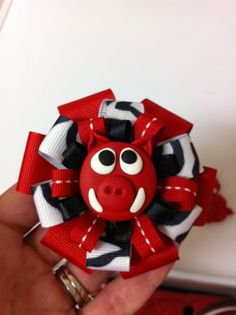 Woo Pig Sooie Hair Bows by TulleAroundBoutique on Etsy!  So cute!