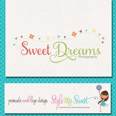 Premade Logo Photography OOAK Hand Drawn   by stylemesweetdesign, $75.00