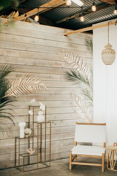 White lounge with laser cut decals on the wall. Photography by Aubree Lynn Photography. Poppy Decor, Restaurant Interior Design, Modern Restaurant, White Shiplap Wall, Sauna Design, Yoga Studio Design, White Lounge, Estilo Tropical, Pub Decor