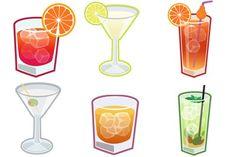 Cocktails Icons - Artwork by Joumana Medlej