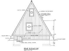 A-Frame Moderní Retro Dům plán 24308 Rear Elevation