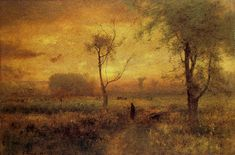 """Sunrise,"" by George Inness, oil on canvas, 30 by 45 ¼ inches, The Metropolitan Museum, anonymous gift in memory of Emile Thiele, 1887"