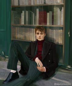 Remus Lupin - In which Remus borrows Sirius's style. And his eyeliner. Art by Vague Enthusiast