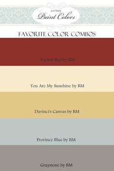 Color Combinations for Tucson Red | Favorite Paint Colors Blog
