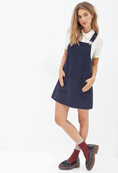 Forever 21 Overall Dress on shopstyle.com