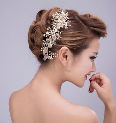 Hair Comb on Etsy Gold Hair vine Pearl Hair Comb by JimiBridal