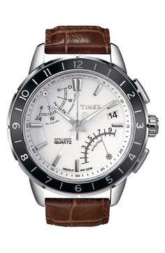 Timex® 'Intelligent Quartz' Flyback Chronograph Watch available at #Nordstrom