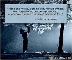 Jest jedna miłość, która nie liczy na wzajemność... #Kraszewski-Józef-Ignacy…