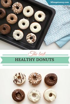 The best healthy donuts you'll ever try. They're moist, delicious, quick and incredibly easy to wipe up.