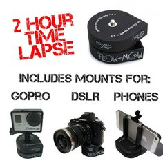 #amazon Flow-Mow 2 Hour Professional Timelapse compatible with all GoPro® / DSLR / Cell Phone with Tripod Mount and Cell Phone Mount - $39.99 (save 9%) #theaccessorypro #electronics #photography