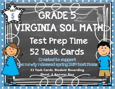 Another great set of TASK CARDS designed to support GRADE 5 VIRGINIA SOLs!! This is set 5.