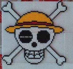 Luffy One Piece hama perler beads by Deco.Kdo.Nat