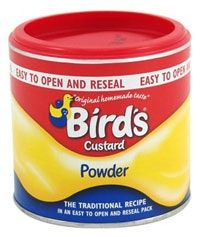 Bird's Custard Powder is the original custard powder. First produced in this mainstay of kitchen cupboards across the UK combines convenience with a truly unique flavour.Bird's Custard Powder can be mixed with sugar and milk to produce a c Bird's Custard, Custard Slice, Custard Desserts, Pudding Desserts, Vegan Desserts, Baking Desserts, Dessert Recipes, Custard Powder Recipes, Custard Recipes
