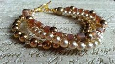 Gold pearl's bracelet