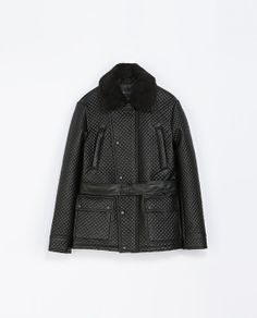 ZARA - MAN - DOUBLE BREASTED QUILTED THREE QUARTER LENGTH COAT