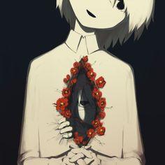108 Powerful Illustrations By Japanese Artist That Will Make You Think Sad Anime, Anime Art, Art Triste, Drawing Feelings, Estilo Anime, Sad Art, Art Et Illustration, Illustrations, True Art