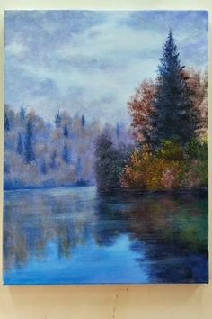 10 Pretty Landscape Paintings For Home Decor - Painting Tutorial Videos Lake Painting, Sketch Painting, Canvas Painting Tutorials, Painting Lessons, Art Sur Toile, Pretty Landscapes, Pastel Artwork, Beautiful Paintings, Painting Inspiration