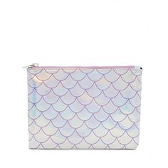 Forever21 Holographic Mermaid Scale Clutch ($7.90) ❤ liked on Polyvore featuring bags, handbags, clutches, glitter handbags, white purse, glitter purse, holographic purse and white handbags