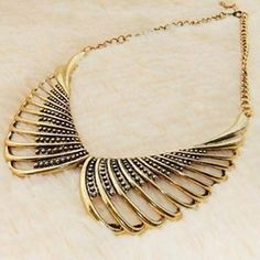 Angel Wing Hollow Collar Shape  Necklace