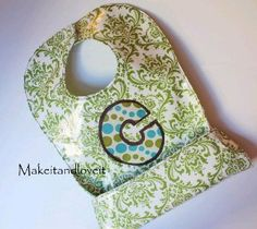 Catch All Laminated Bib - How to make a baby bib DIY that is one of the cleverest sewing ideas for baby that you will find.