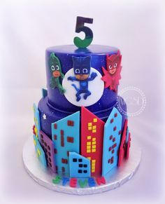 _PJ Mask Birthday Cake