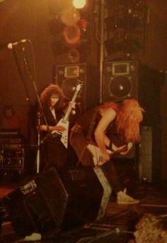 Kirk Hammett and James Hetfield in 1983